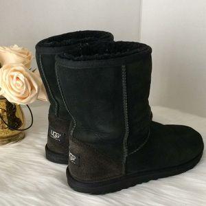 UGG Genuine Sheepskin Black Bootie